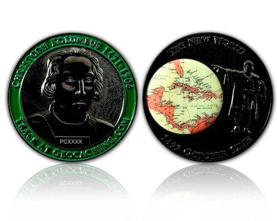 Christoph Kolumbus Geocoin Black Nickel XLE 50