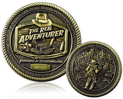 The Real Adventurer Jungle Geocoin Antik Gold