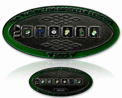 2 Million Geocache Geocoin Black Nickel LE 100