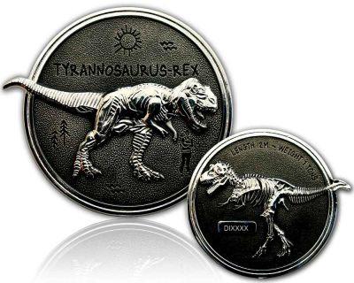 Tyrannosaurus Rex Geocoin Silber / Black