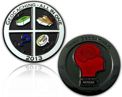 Geocaching - All In One Geocoin 2013 Black Nickel
