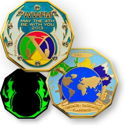 WWFM Flash Mob X Event Geocoin