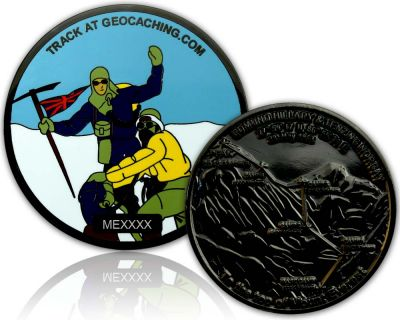 Mount Everest Geocoin Black Nickel XLE 75