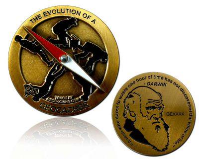 The Evolution of a Geocacher Geocoin Antik Gold