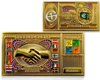Euro Cache Geocoin Gold Version