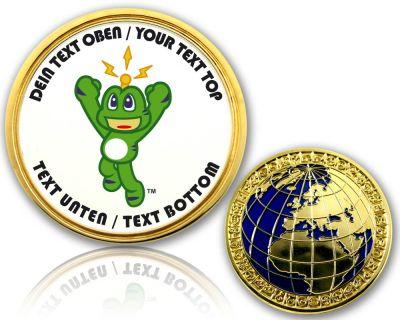 Signal-The-Frog Geocoin mit deinem Text