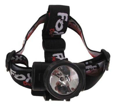 Stirnlampe, Crypton, schwarz, wasserdicht, klappbar