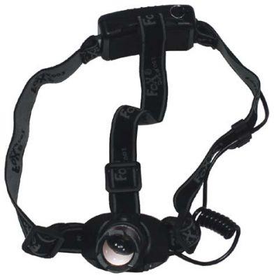 Stirnlampe, 3 Watt LED, Fokus, Alu-Geh?use, 3 AAA-Batterie