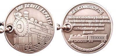 2 x Travel Express Antik Silber