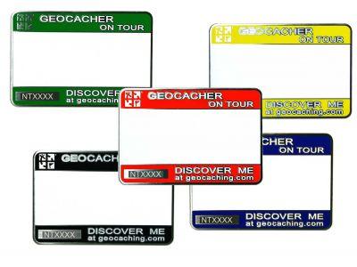 Trackbares Geocaching Namensschild (Magnethalterung)
