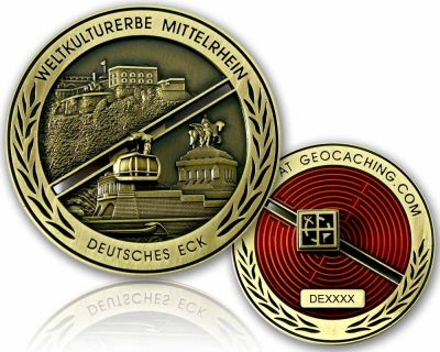 Deutsches Eck Geocoin Antik Gold