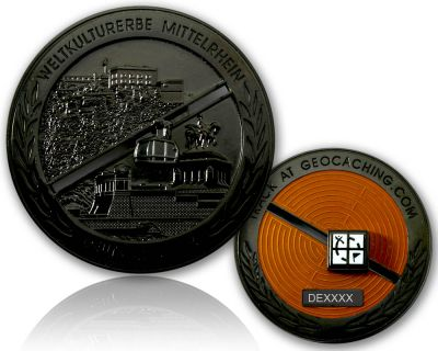 Deutsches Eck Geocoin Black Nickel LE 100