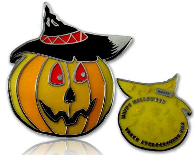 Halloween K?rbis Geocoin Gelb LE
