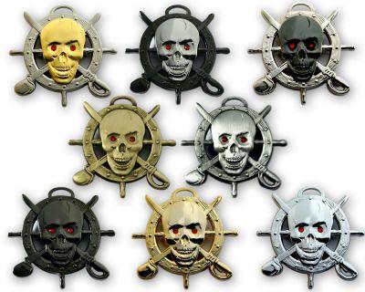 Pirate Skull Geocoin Sammler SET (8 Coins)