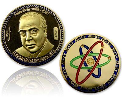 Atommodell Niels Bohr Geocoin Black/Gold XLE 75