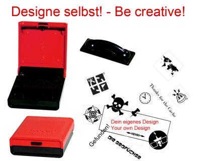 Geocaching Stempel mit Deinem Design - Taschenstempel 38 x 14