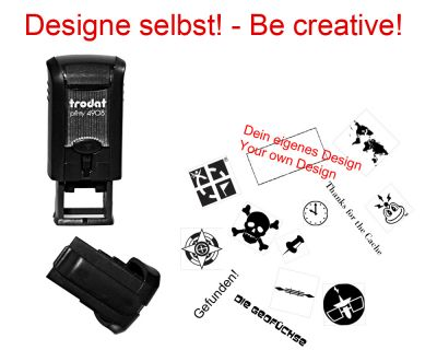Geocaching Stempel mit Deinem Design - Printy Mini   15 x 7