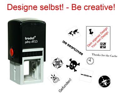 Geocaching Stempel mit Deinem Design - Printy 30 x 30