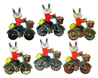 Easter Bunny Fahrrad Geocoin Sammler SET (6 COINS)