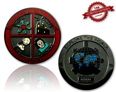 Geocaching - All In One Geocoin 2014 Black Nickel LE 150