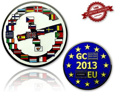 Geocaching Europe Geocoin Black Nickel LE