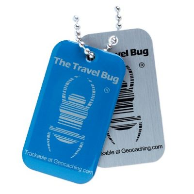 Geocaching QR Travel Bug® - Blau