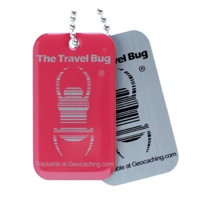 Geocaching QR Travel Bug® - Pink