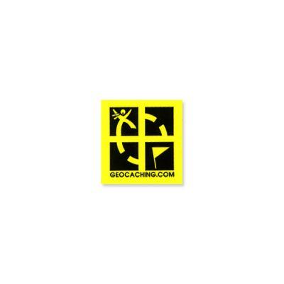 Geocaching.com Mini Sticker schwarz/gelb (4 Stck.)