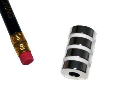4 St?ck 15 mm Runde x 5 mm mit 6 mm Loch Neodym Magnete