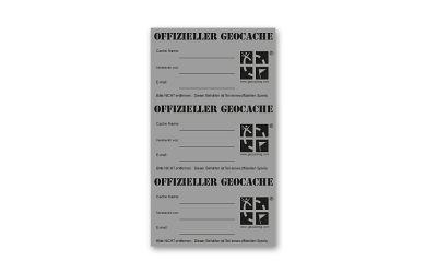 Original Geocaching.com MICRO Aufkleber 3er SET Silber