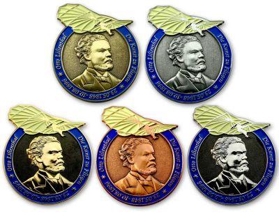 Otto Lilienthal Geocoin Sammler SET (5 Coins)