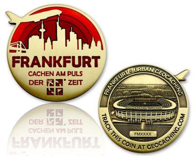 Frankfurt Geocoin Antik Gold - ROT