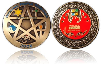 Unity Geocoin Antik Gold