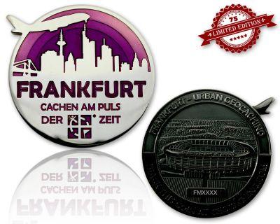 Frankfurt Geocoin Black Nickel / Silber - VIOLETT XLE 75