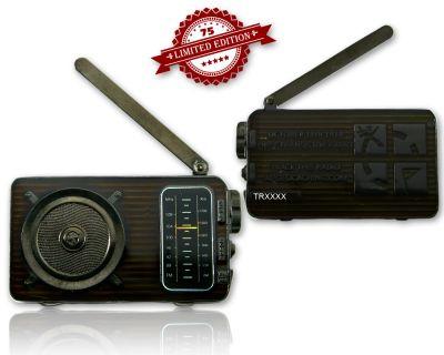 Radio Geocoin (ausklappbare Antenne) Black Nickel XLE 75