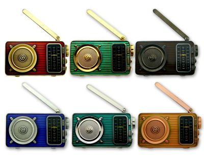 Radio Geocoin (ausklappbare Antenne) Sammler SET (6 COINS)