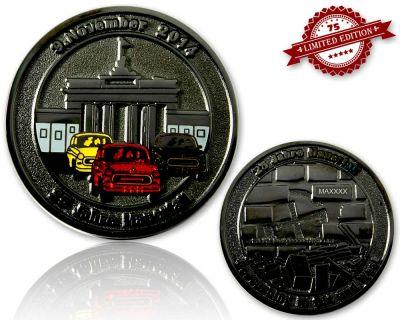 25 Jahre Mauerfall  Geocoin Black Nickel XLE 75