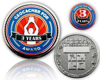Geo Award Geocoin - 3 Jahre (inkl. Pin)