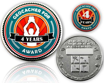 Geo Award Geocoin - 4 Jahre (inkl. Pin)