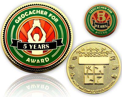 Geo Award Geocoin - 5 Jahre (inkl. Pin)
