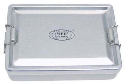 Geocache Aluminium Behälter silber