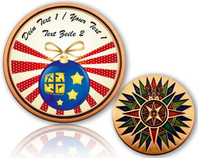 Happy New Year 2020 Geocoin mit deinem Text