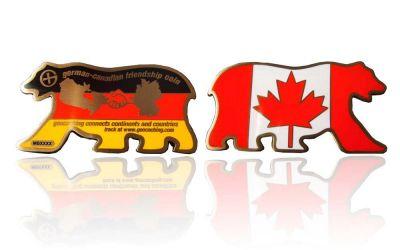 German Canadian Friendship Geocoin Antik Gold