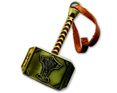 Mega Thor Hammer Geocoin Antik Gold (XXL)