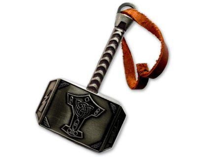 Mega Thor Hammer Geocoin Antik Silber (XXL)