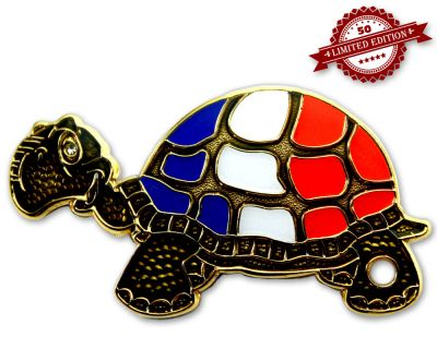 GeoTurtle Nation Geocoin - Mrs. France XLE 50