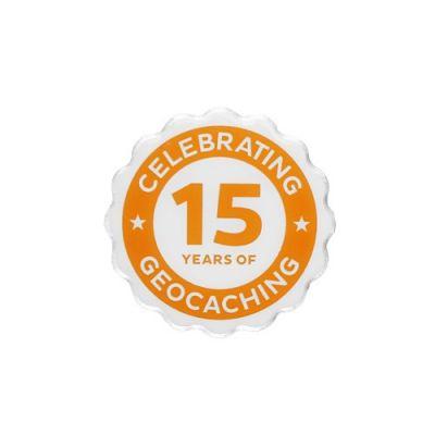15 Jahre Geocaching PIN / Anstecker