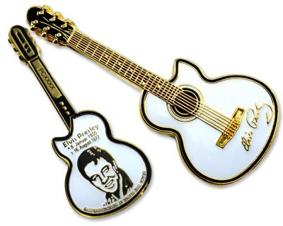 Elvis Guitar Geocoin - Star Edition