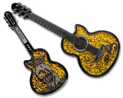 Elvis Guitar Geocoin - Sun Edition
