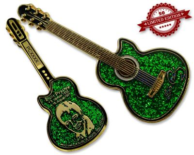 Elvis Guitar Geocoin - Nature Edition XLE 50